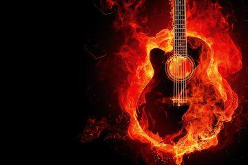 En brinnande gitarr